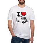 I Love Food Trucks! Fitted T-Shirt