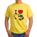 I Love Food Trucks! Yellow T-Shirt