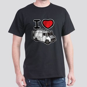 I Love Food Trucks! Dark T-Shirt