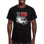 I Love Food Trucks! Men's Fitted T-Shirt (dark)