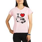I Love Food Trucks! Performance Dry T-Shirt