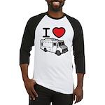 I Love Food Trucks! Baseball Jersey