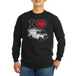 I Love Food Trucks! Long Sleeve Dark T-Shirt