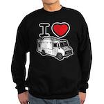 I Love Food Trucks! Sweatshirt (dark)