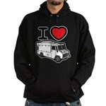 I Love Food Trucks! Hoodie (dark)