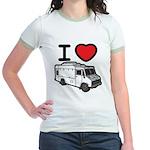 I Love Food Trucks! Jr. Ringer T-Shirt