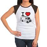 I Love Food Trucks! Women's Cap Sleeve T-Shirt
