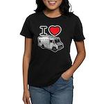 I Love Food Trucks! Women's Dark T-Shirt