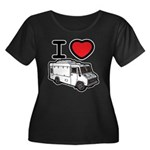 I Love Food Trucks! Women's Plus Size Scoop Neck D