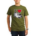 I Love Food Trucks! Organic Men's T-Shirt (dark)