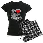 I Love Food Trucks! Women's Dark Pajamas