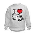 I Love Food Trucks! Kids Sweatshirt