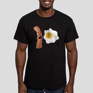 Bacon 'N Egg Lover Men's Fitted T-Shirt (dark)