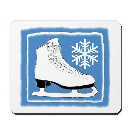 Bright Blue Ice Skate Mousepad