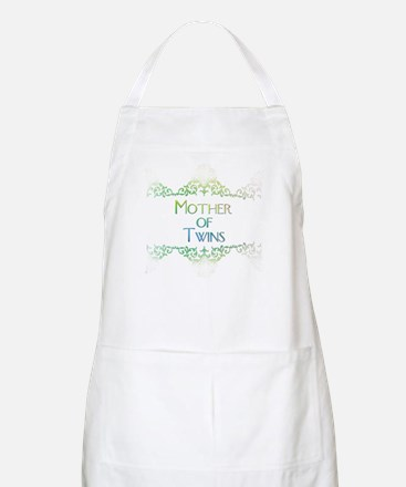 mother of twins decorated col Apron