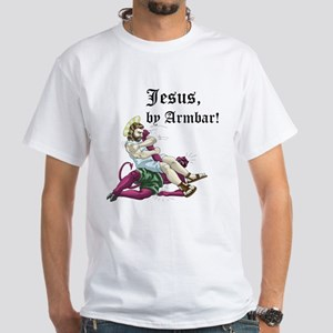 Jesus, by Armbar! White T-Shirt