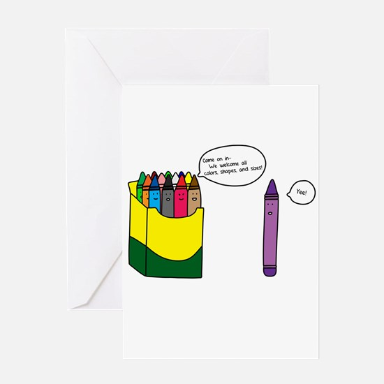 Box of Crayons Greeting Card