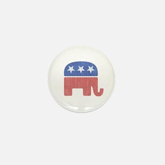 Old Republican Elephant Mini Button