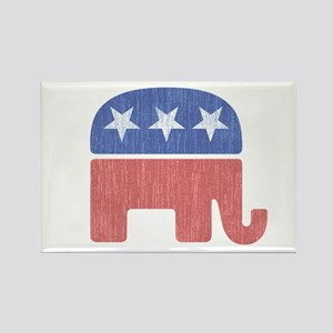 Old Republican Elephant Rectangle Magnet