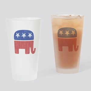 Old Republican Elephant Drinking Glass