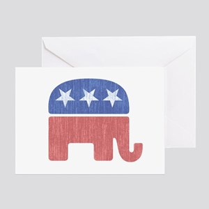Old Republican Elephant Greeting Card