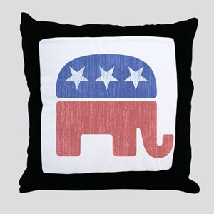 Old Republican Elephant Throw Pillow