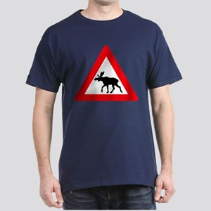 Elk warning sign Dark T-Shirt