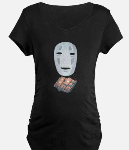 No face w/ tokens Maternity T-Shirt