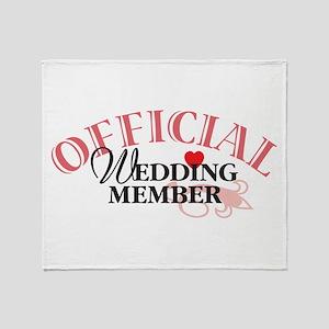Wedding Party Throw Blanket