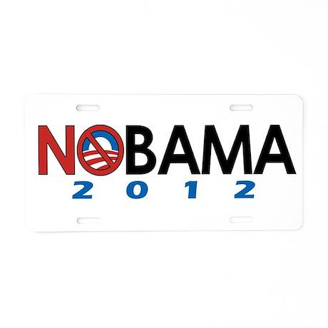 NObama 2012, Anti-Obama Aluminum License Plate