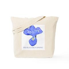 Iris Blue Each Spring Tote Bag