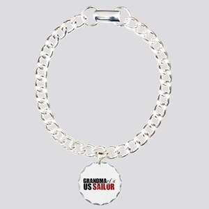 Grandma of a US Sailor - Charm Bracelet, One Charm