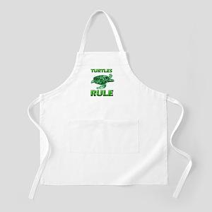 Turtles Rule BBQ Apron