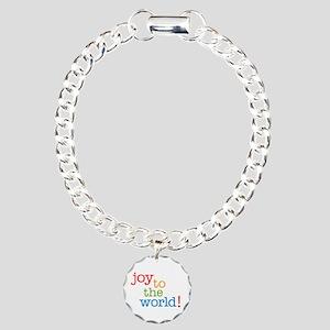 Joy to the World Charm Bracelet, One Charm