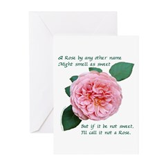 A Rose by any Other Name Greeting Cards (Pk of 10)