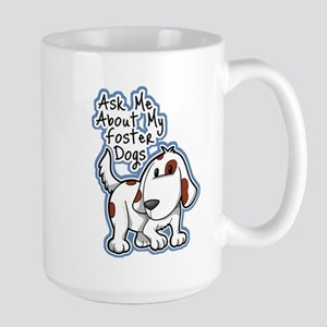 Ask Me About (Dogs) Large Mug