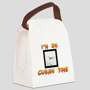 Cuban Time Canvas Lunch Bag
