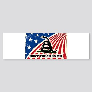 Dont Tread on Me American Fla Sticker (Bumper)