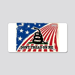 Dont Tread on Me American Fla Aluminum License Pla