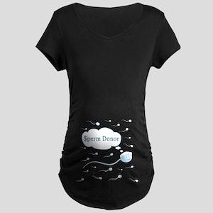 $perm Donor Maternity Dark T-Shirt