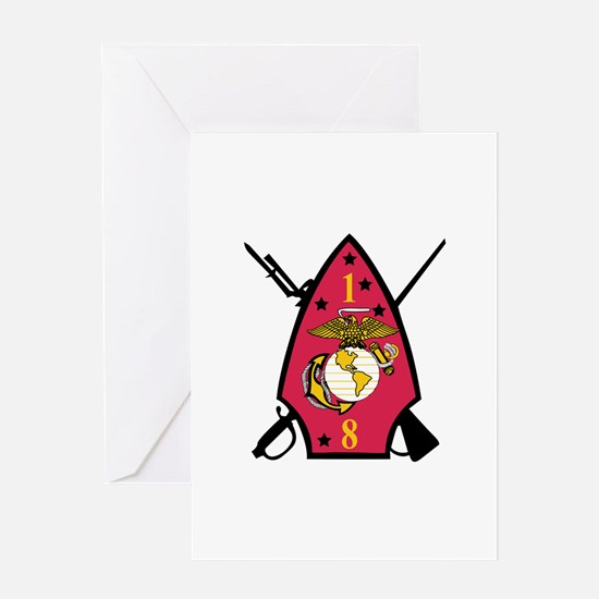 1st Battalion - 8th Marines Greeting Card