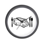 Food Truck Plate & Utensils Wall Clock