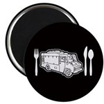 Food Truck Plate & Utensils Magnet