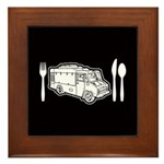 Food Truck Plate & Utensils Framed Tile