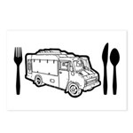 Food Truck Plate & Utensils Postcards (Package of