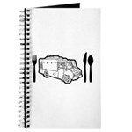 Food Truck Plate & Utensils Journal