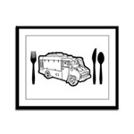 Food Truck Plate & Utensils Framed Panel Print