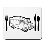 Food Truck Plate & Utensils Mousepad