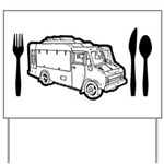 Food Truck Plate & Utensils Yard Sign