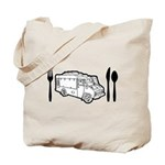 Food Truck Plate & Utensils Tote Bag